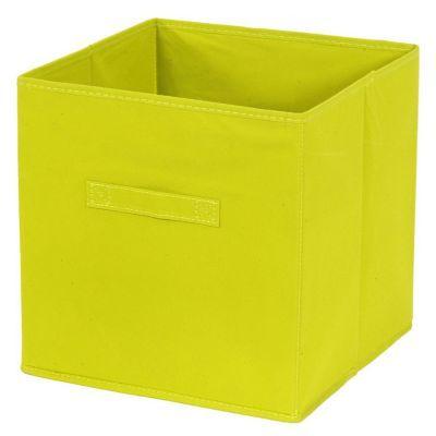 Panier De Rangement Carre Intisse Vert Mixxit En 2020 Panier Rangement Cube Rangement Et Rangement