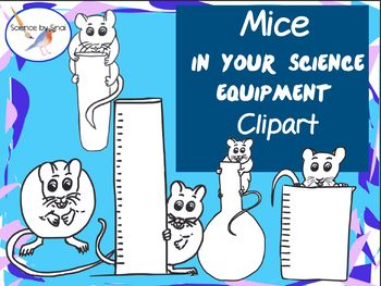 Here Are 5 Png Clipart Images Of Cute Mice Crawling All Over Science Glassware Equipment These Are For Personal Or C Science Equipment Science Clipart Science