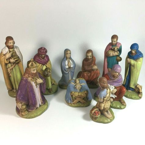 2-2.25 Inches Tall Holy Family Holiday Decorations Set of 4 Assorted Scenes of Mary BANBERRY DESIGNS Nativity Ornaments Joseph and Baby Jesus Hanging Christmas Ornaments Measures Approx