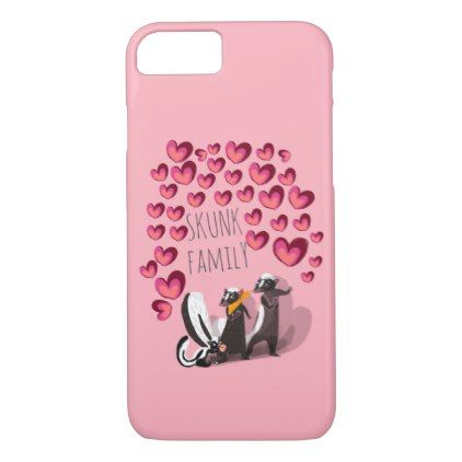 Skunk family (c) 2017 iPhone 8/7 case - family gifts love personalize gift ideas diy