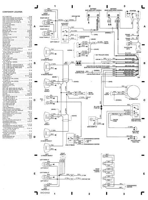 Free Schematics 1999 Chevy 2500 Engine Compartment Wiring Diagram 1991 Chevrolet 1500 Pickup Chevrolet Pickup Chevy Pickups Chevrolet
