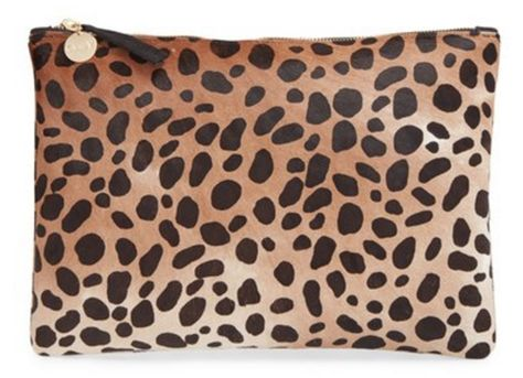 Love this classic leopard print clutch