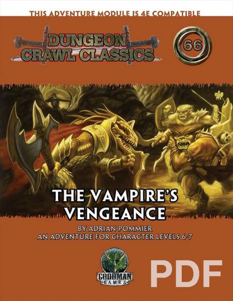 Dungeon Crawl Classics #66: The Vampire's Vengeance – PDF