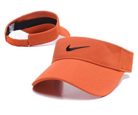 Nike Golf Tennis Hats Sun Visor Cap Orange 086 Hat Fashion Nike Visor Visor Cap