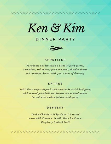 3 Course Meal Menu Templates Awesome Food Overlay Dinner Party Menu Templates By Canva Easy Dinner Party Easy Dinner Party Menu Party Menu