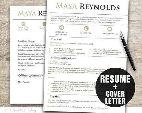 Instant Download Resume \ Letterhead \/ The Will by 23and9Creative - download a resume