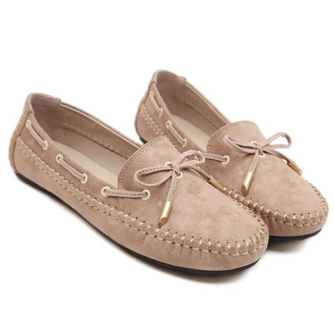 Women/'s Driving Moccasins Slip On Round Toe Loafers Flat Bowknot Chic Pump Shoes