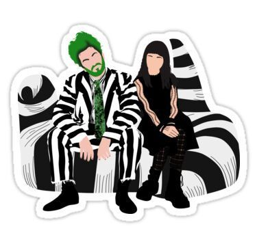 'Beetlejuice and Lydia- Beetlejuice the Musical' Sticker by dgdoesart