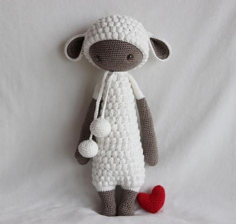 LUPO the lamb made by Burcak K. / crochet pattern by lalylala