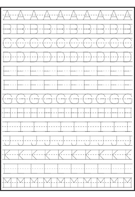 Printable ABC Traceable Worksheets | Activity Shelter