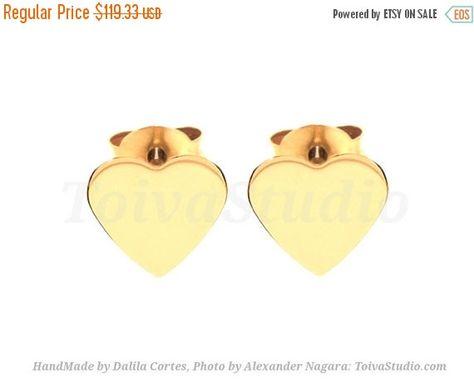 4325fc047 14k Solid gold Tiny Heart Studs Earrings-heart gold Earrings-heart post  Earrings-Heart Studs Gold Post Earrings-Minimalist