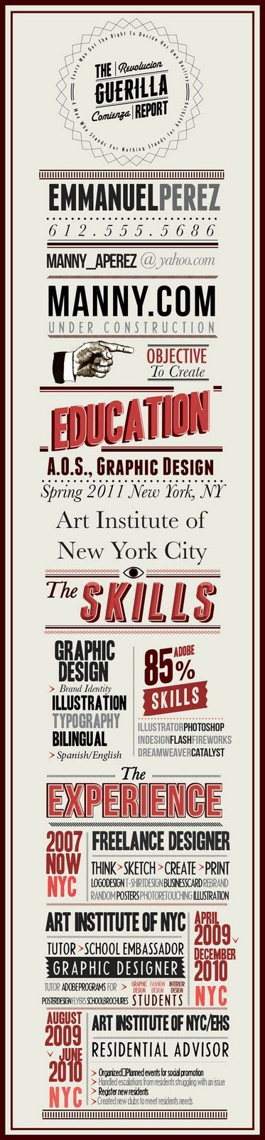 I design Infographic Resumes - check out my portfolio by clicking - infographic resumes