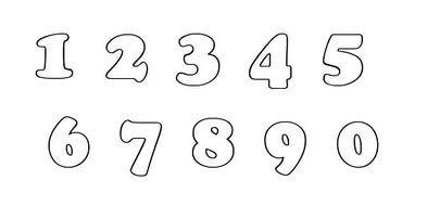 цифры от 1 до 12 картинки для печати красивые цветные