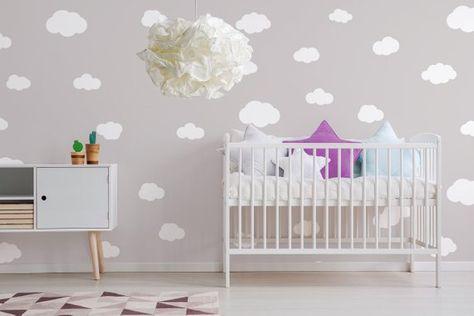 cloud sticker, wall decal, cloud childrens wall, wall sticker