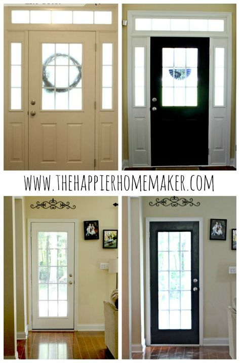 "Painting interior doors black & why that makes them POP!  Actually. I don't care why it makes it ""pop"" it just looks cool!"
