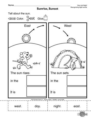 Sunrise Sunset Lesson Plans The Mailbox Science Worksheets Sunrise Sunset Sunrise