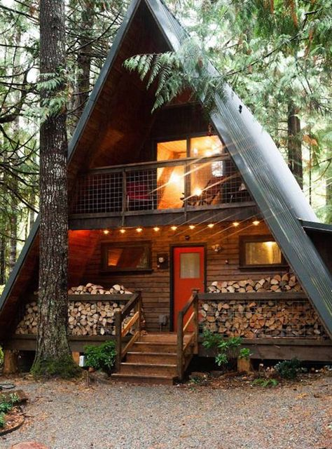 Tiny cabins, wood cabins, a frame cabin plans, barn plans, garage plans Tiny House Cabin, Log Cabin Homes, Tiny House Design, Tiny Cabin Plans, Cabin Design, Barn Homes, Cottage Design, Cabins In The Woods, House In The Woods