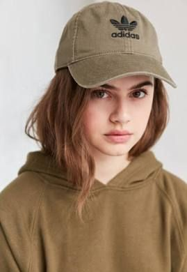 86d471126cc adidas Originals Relaxed Strapback Baseball Hat - Olive One Size ...