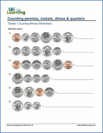 Worksheets Adding Coins Money Worksheets Counting Money Worksheets Counting Money