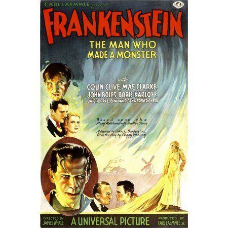 Frankenstein Canvas Art - (24 x 36)
