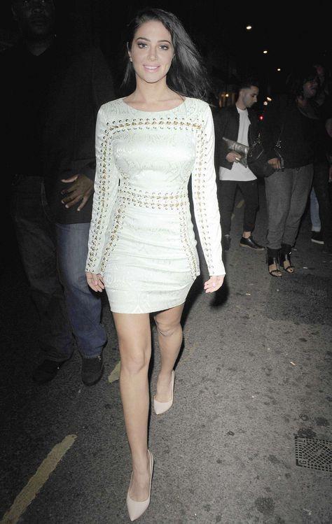 Tulisa Contostavlos in Tight Mini Dress -07