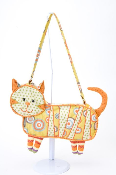 Womens Vintage Purse Smiling Cats Canvas Makeup Bag With Zipper For Women