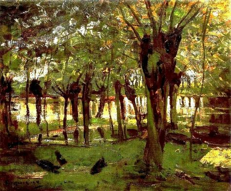 Piet Mondrian (1872-1944)  Pollard Willows on the Gein 1902-04