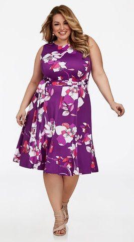 Plus Size Purple Dresses Purple Dresses That Fit Plus Sizes The Untidy Closet Fit N Flare Dress Purple Plus Size Dresses Plus Size Cocktail Dresses