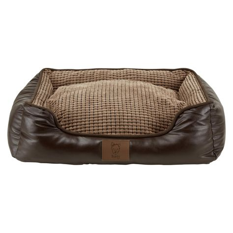 Bunty Brown Tuscan Faux Leather Dog Bed In 2020 Dog Bed Raised