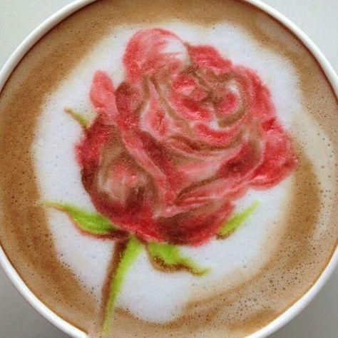 Rose  Cappuccino Design