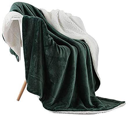 Olive Green Nanpiper Sherpa Blanket Warm Blankets For Winter Super Soft Fuzzy Flannel Fleece Wool Like Reve Flannel Blanket Throw Blanket Blankets For Winter What is a sherpa blanket