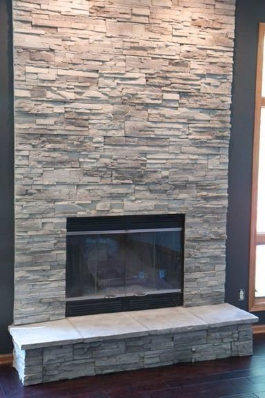 Stacked Stone Fireplace Ideas For Your, Stacked Rock Fireplace Pictures