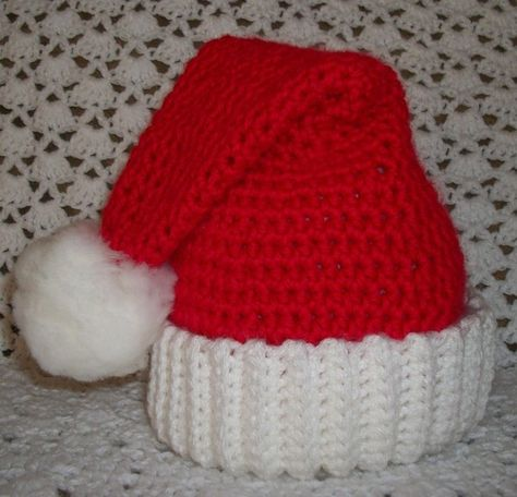 Santa Hat ... 13 years ... ready to ship by sweetpeacollections, $17.00