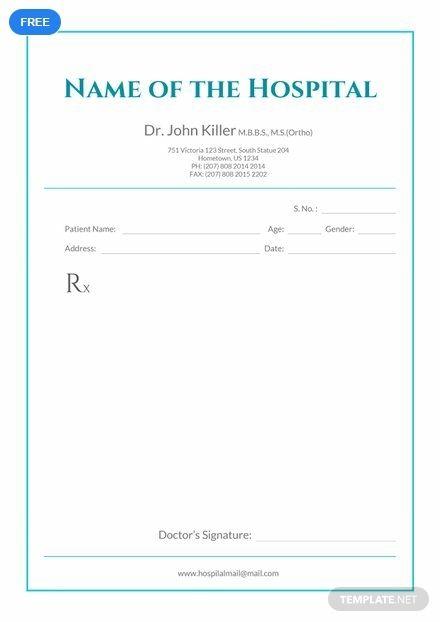 Free Medical Prescription Format Medical Prescription