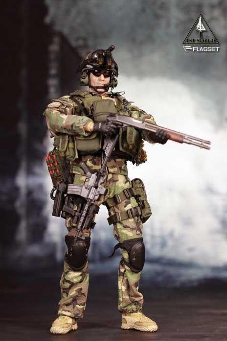 Échelle 1//6 FLAGSET U.S Army Delta forces spéciales US fusil Set