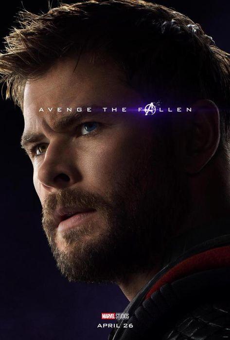 Avengers: Endgame 2019 Character Poster Thor Avenge the Fallen poster Marvel comic movie quality print Avengers 4