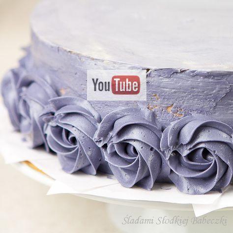 Dekoracja Tortu Pzy Uzyciu Masy Maslanej Na Bazie Bezy Szwajcarskiej Homemade Pastries Cake Cake Decorating