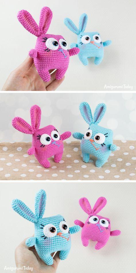 Amigurumi Bunny- Free Pattern | Crochet toys free, Crochet amigurumi free  patterns, Crochet toys patterns | 948x474