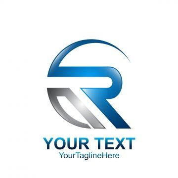 Initial Letter R Logo Template Colored Grey Blue Swoosh Design Logo Templates Construction Logo Design Logo Design Typography