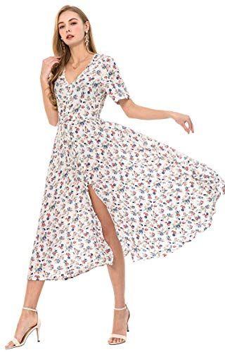 25ca72ad9eae6 Wantdo Women's Embroidered Beach Dress Maxi Dress Crochet Smock ...