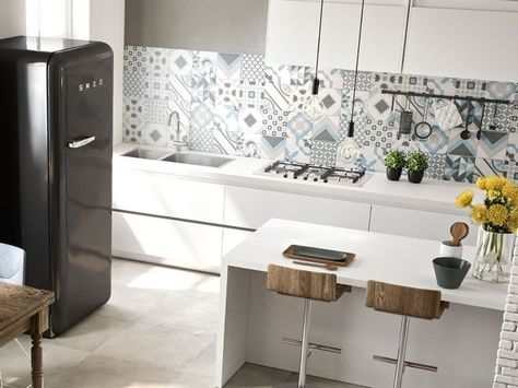 Rivestimento Cucina Effetto Cementina - Quilt | piastrelle ...
