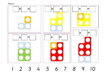 Numicon Addition Sentences By Epic Phonics Teachers Pay Teachers Numicon Numicon Activities Differentiation Activities