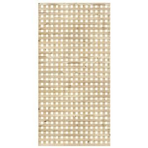 4 Ft X 8 Ft Pressure Treated Square Privacy Wood Lattice 118651
