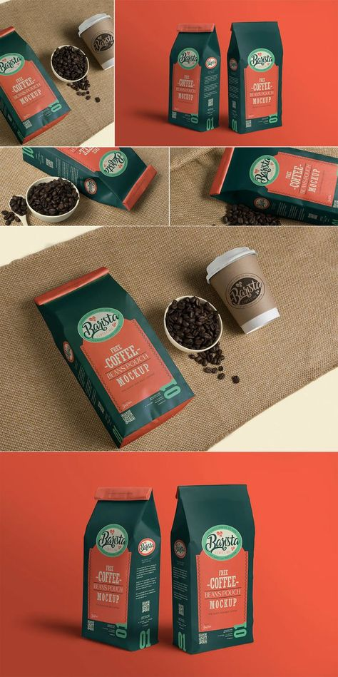4 Coffee Pouch Mockups