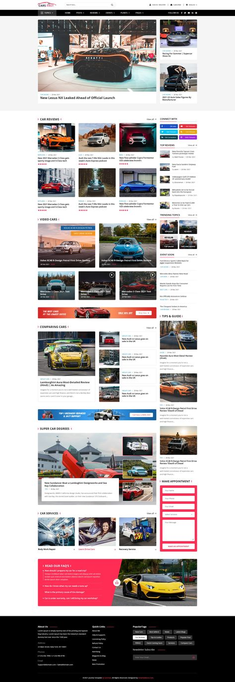 [PREVIEW] Sj CarsFast - Professional Joomla Template for Cars News, Cars Review
