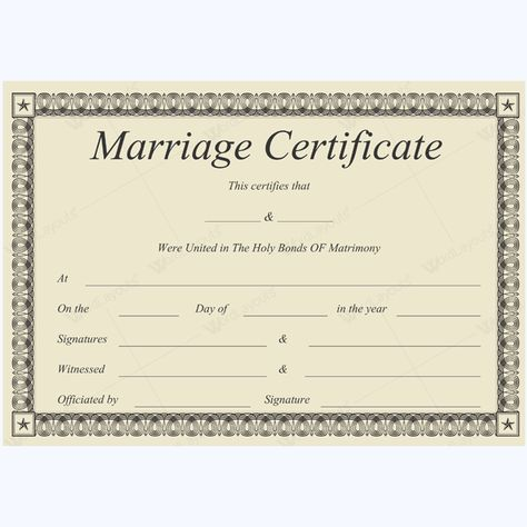 Formal Marriage Certificate #marriage #certificate #template - baptism certificate