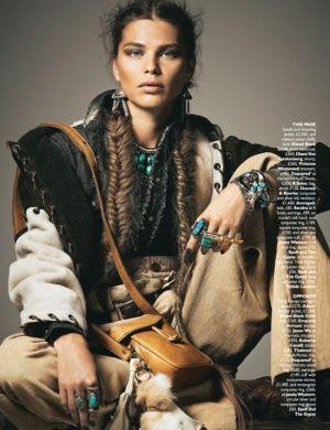tribal ethnic bohemian fashion | ... boho chic look. Love the ethnic turquoise jewelry! #bohemian
