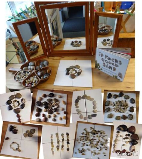 Invitations to Explore with Rocks | Reggio Provocations - Racheous - Lovable Learning