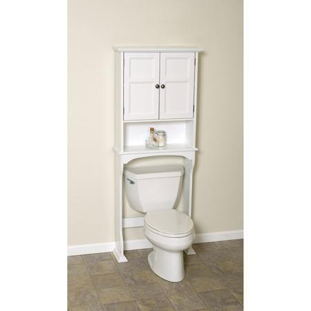 White Collette Wood Bathroom Storage Spacesaver