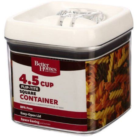 d1a401184310bccdb539997ee30ac7c6  smart kitchen kitchen organization - Better Homes And Gardens 18.6 Cup Flip Tite Rectangle Container